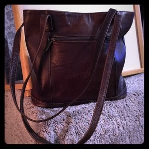 Genuine brown leather purse made in Columbia